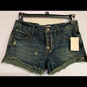 Free People | Jillian Blue Cutoff Denim Shorts